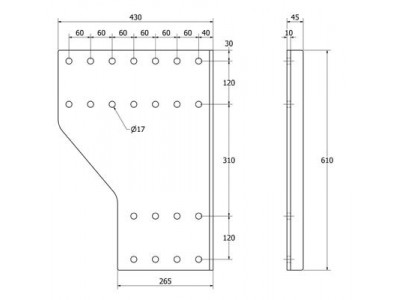 SIVULEVYPARI DL K610XL27 B190 (2KPL)